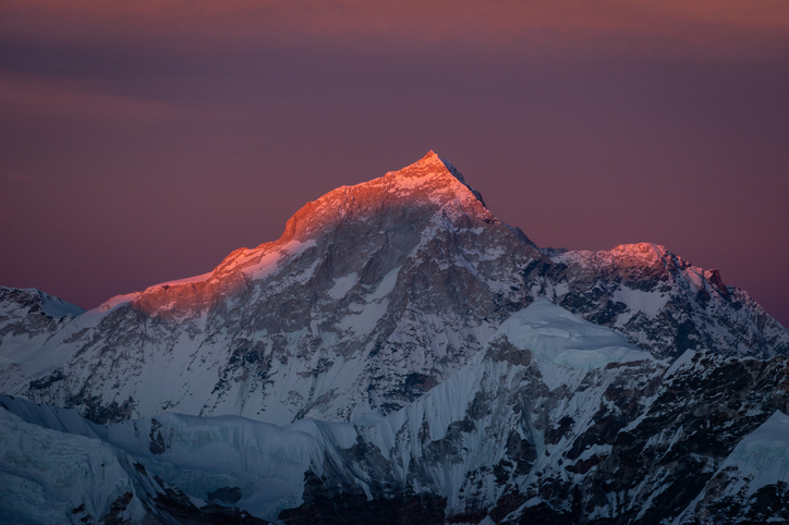 Makalu's four-sided pyramid features the world's fifth-highest peak, standing 8481 metres. Photo:...