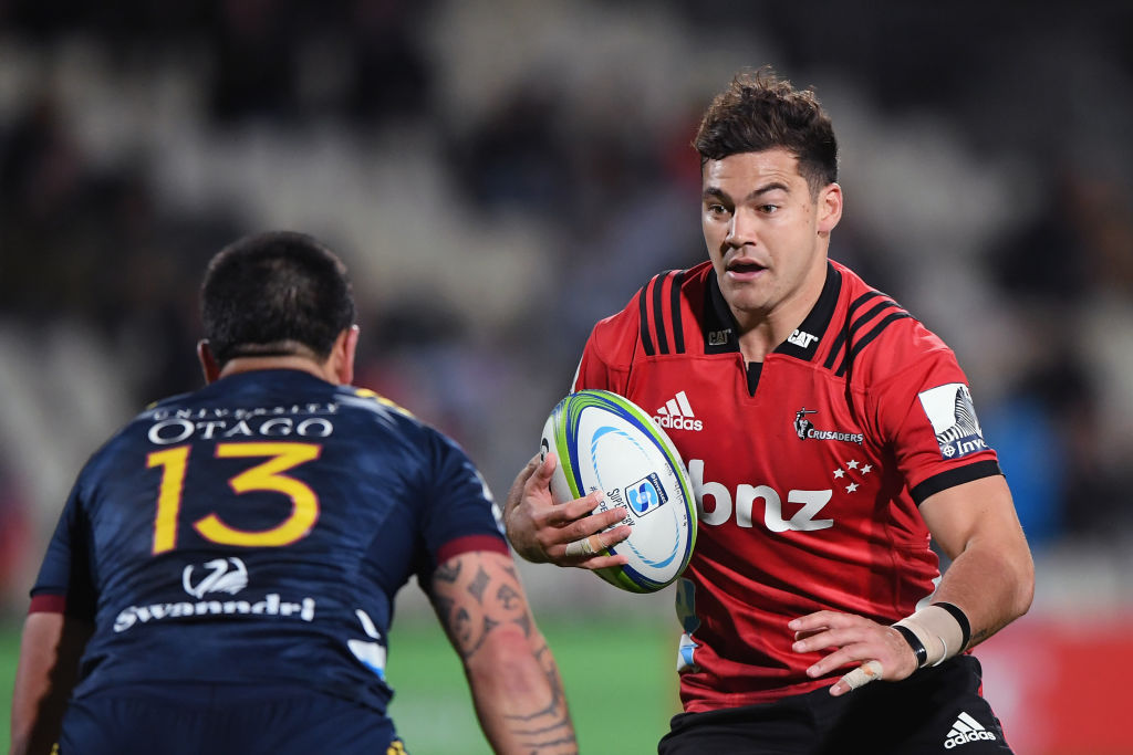 David Havili runs the ball up for the Crusaders against the Highlanders. Photo: Getty