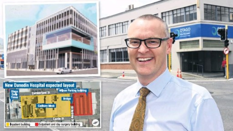 Health Minister David Clark's decision to fast-track the new outpatients and day surgery block...