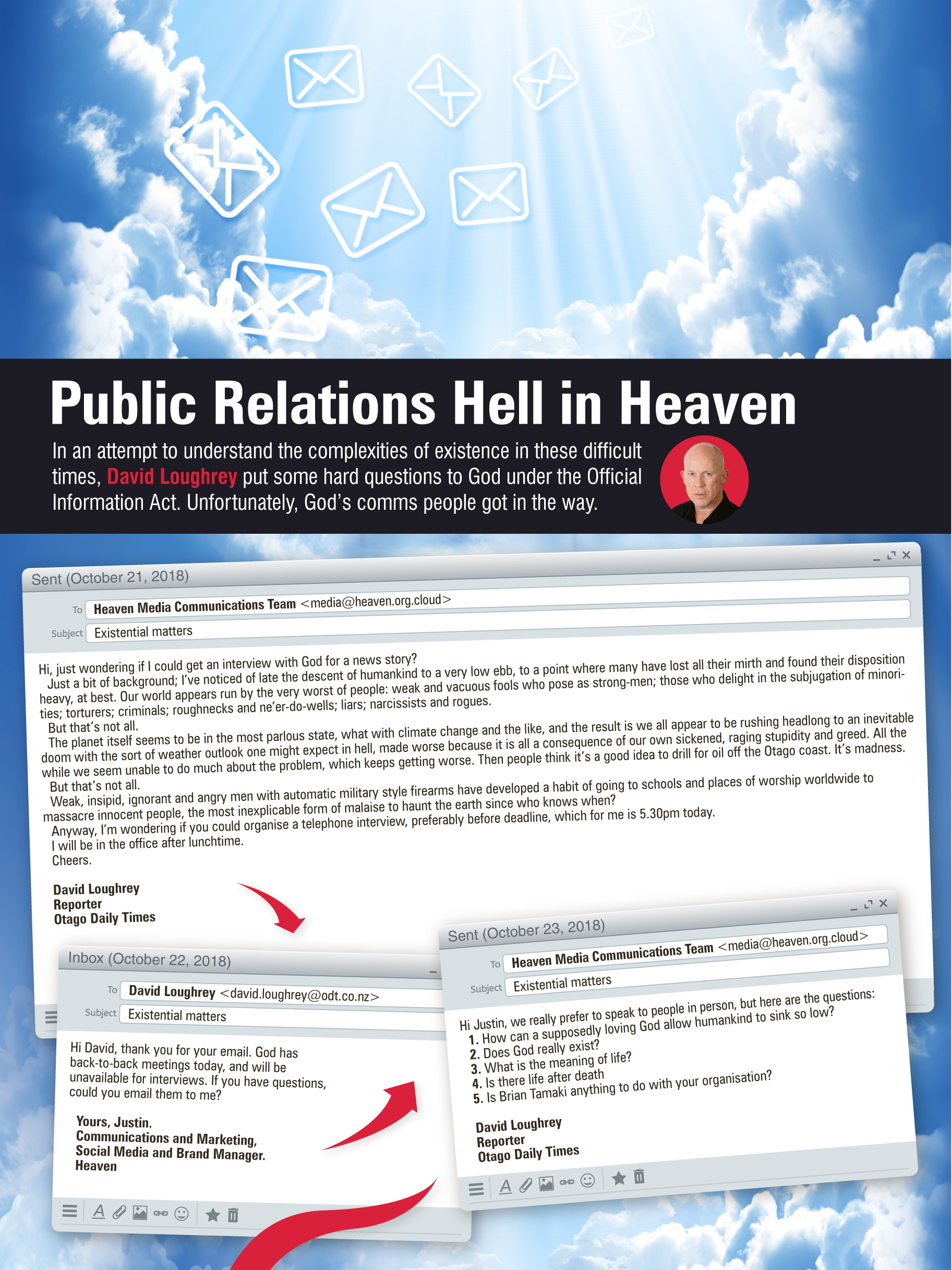 Public relations in Heaven and Hell   Otago Daily Times