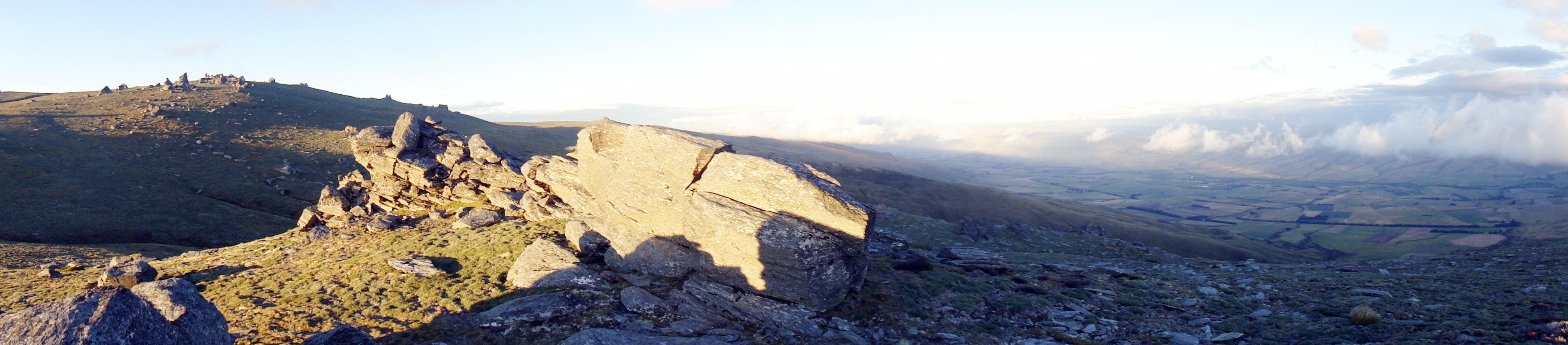 The view from the top of the Rock and Pillar Range, near Big Hut. PHOTOS: TOM MCKINLAY