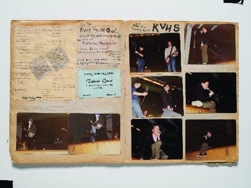 Shayne Carter的剪贴簿记录了他在1980年Kaikorai Valley高中人才追求中的出游...