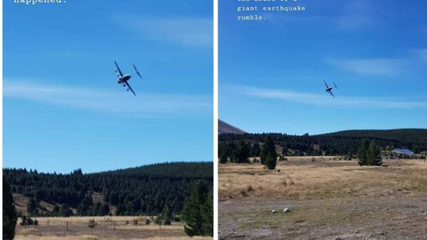 The air force plane stunned locals near Twizel. Photo: Instagram