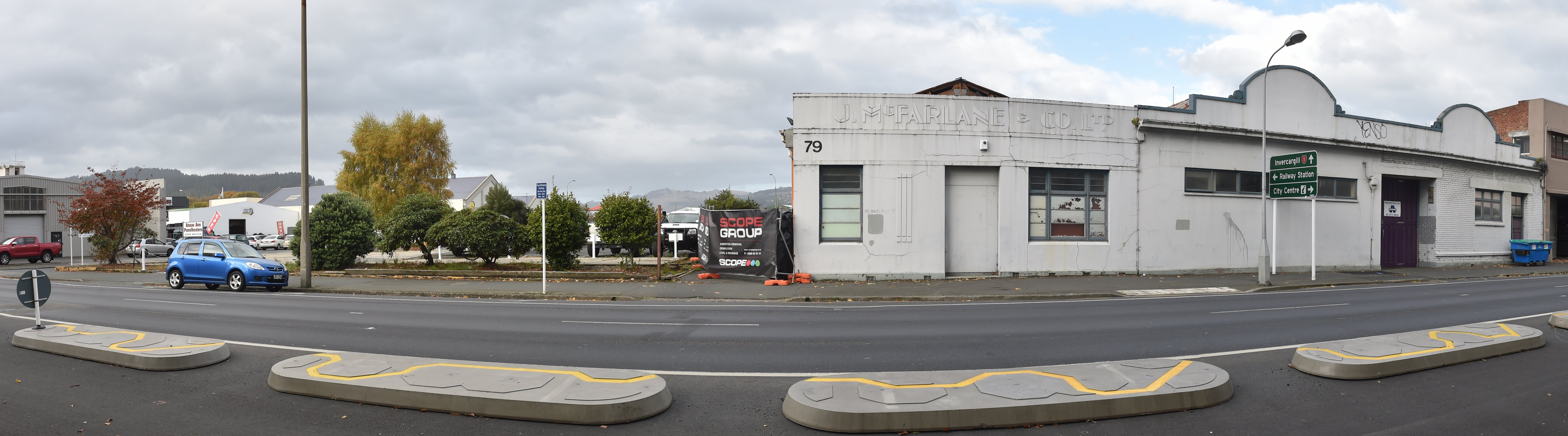 Buildings by the former Cadbury car park between Castle St and Anzac Ave will be demolished this...