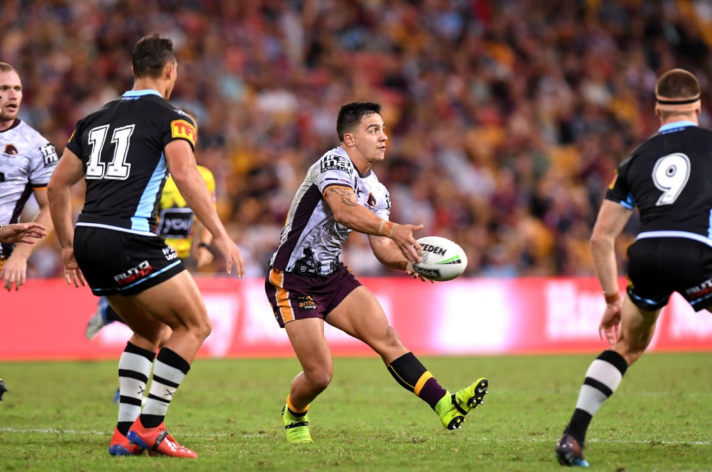 Brisbane Broncos halfback Kodi Nikorima could sign with the Warriors. Photo: Getty Images