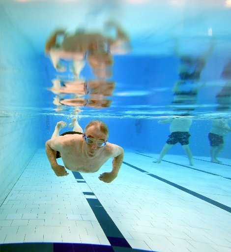 John Roxborogh (74) says his weekly sessions at the Physio Pool keep him functioning. PHOTO:...