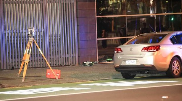 The scene of the incident in Auckland. Photo: NZ Herald
