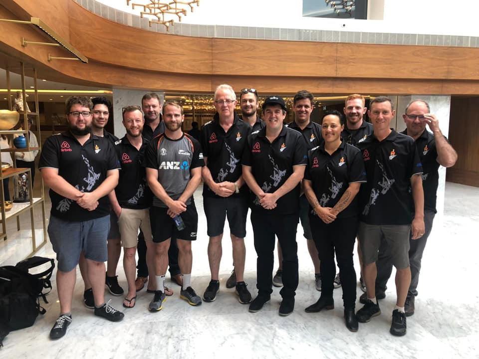The Black Benchers Parliamentary cricket team and the Black Caps.PHOTO: SUPPLIED