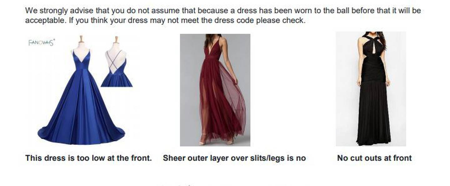 afc100c638 These dresses are out because they feature spaghetti straps, legs seen  through sheer fabric and