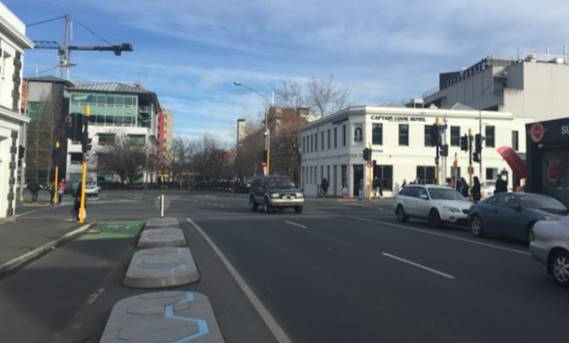The nearby 'Captain Cook' intersection, also to become a Barnes Dance crossing. Photo: NZTA