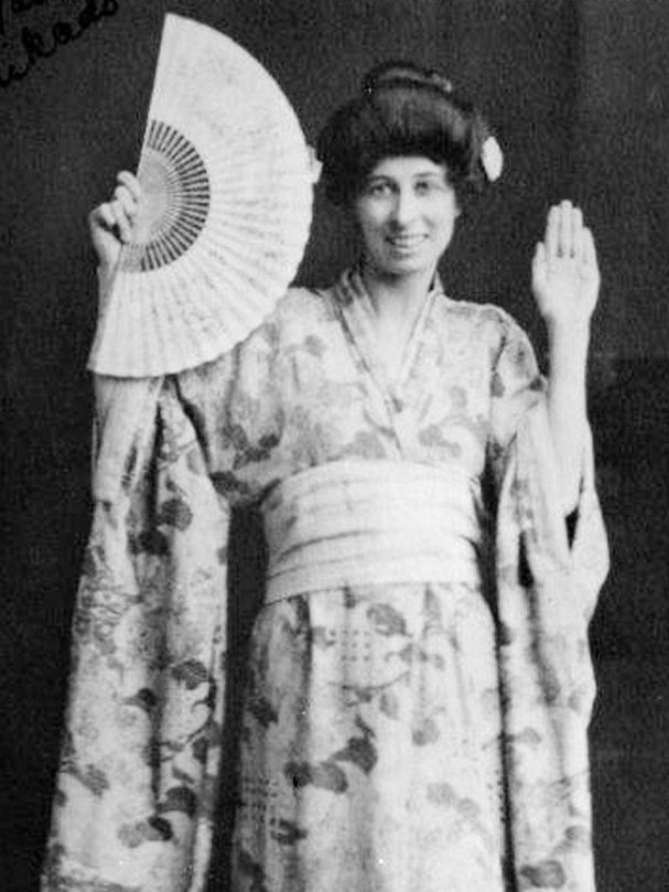 Saul's great-grandmother Nellie in costume for her role in The Mikado. Photo: Supplied