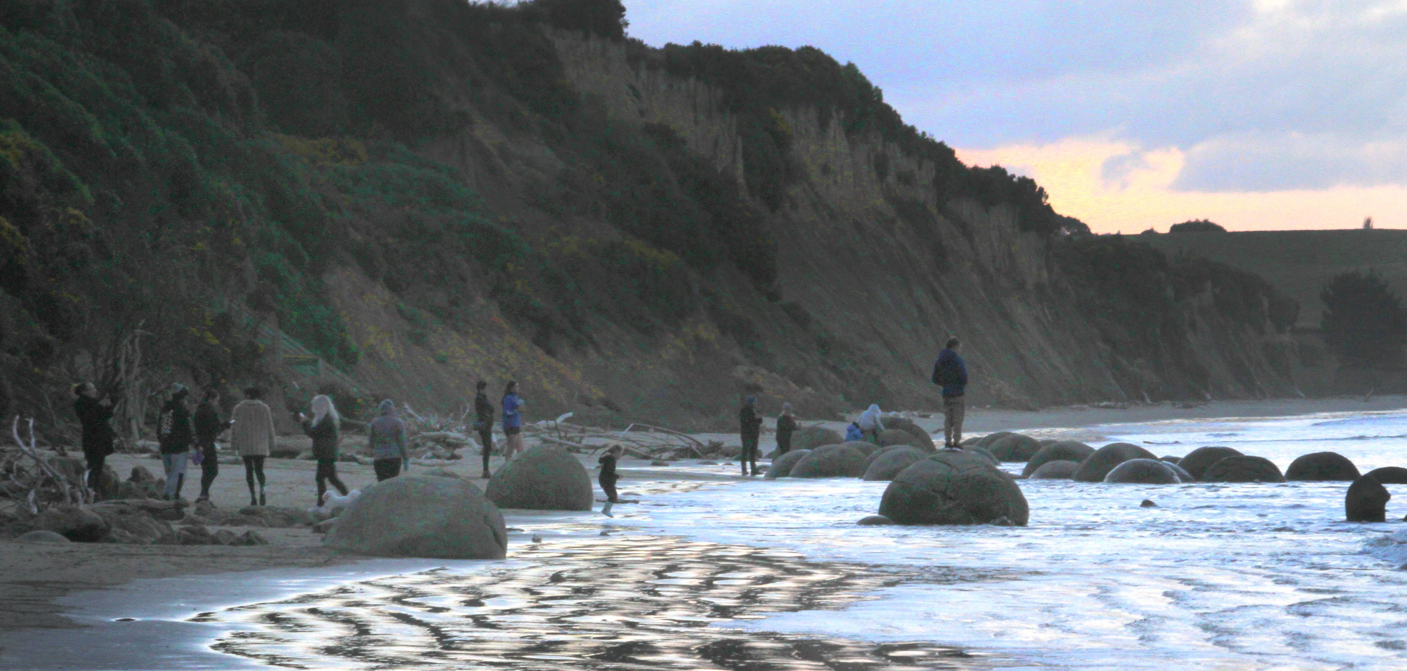 The Moeraki Boulders, south of Oamaru, are one of 43 identified ''geosites'' in the Waitaki...