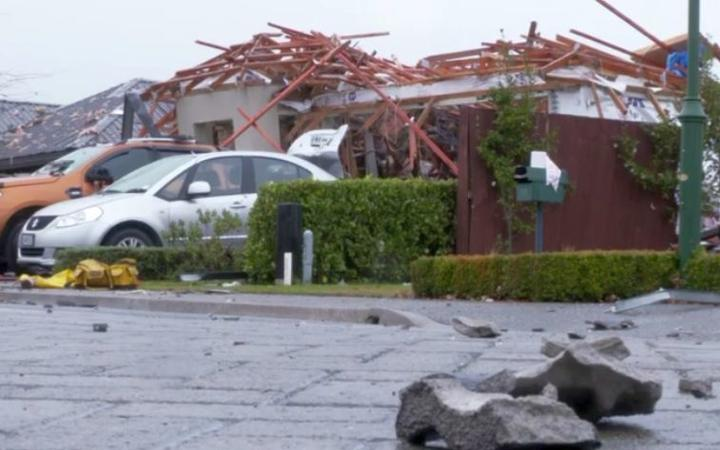 One of the houses near the site of the explosion. Photo: RNZ