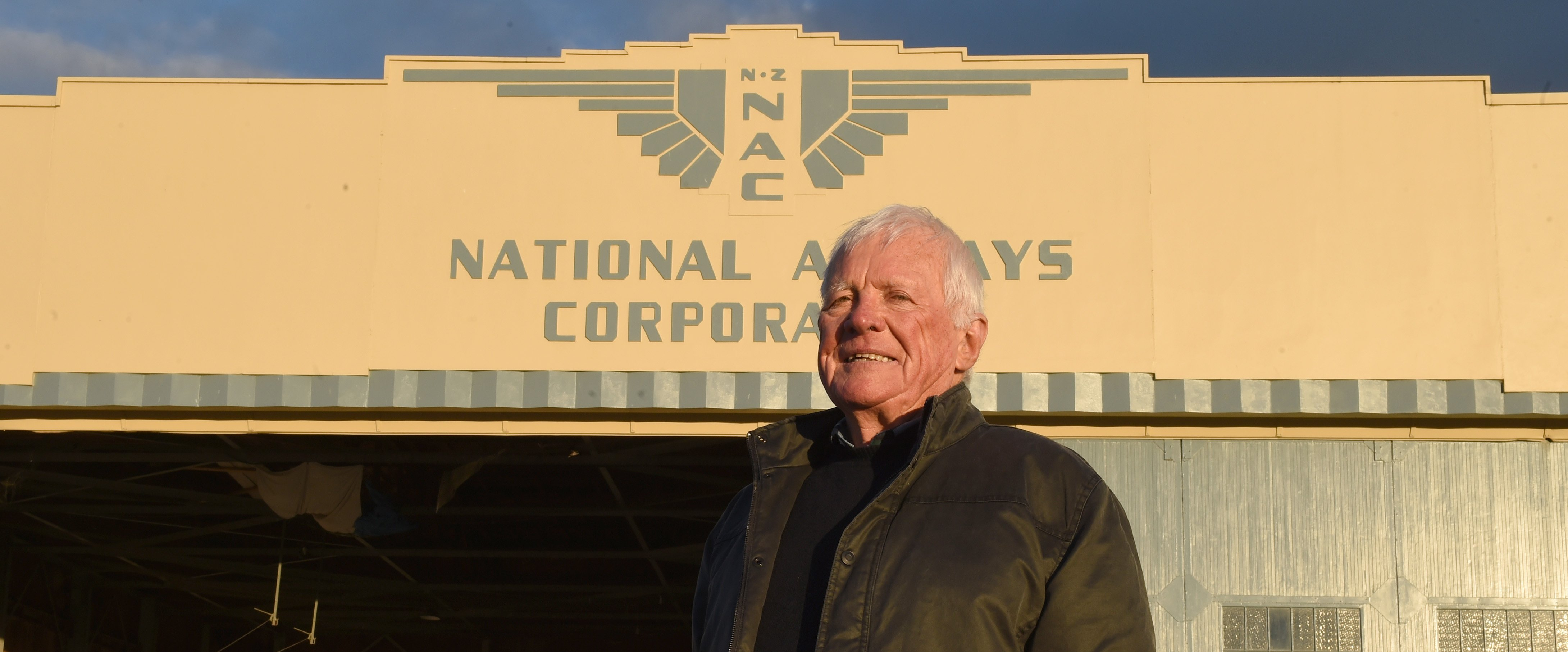 Retired pilot and author Tom Enright,savouring the atmosphere at the Taieri aerodrome. Photos:...