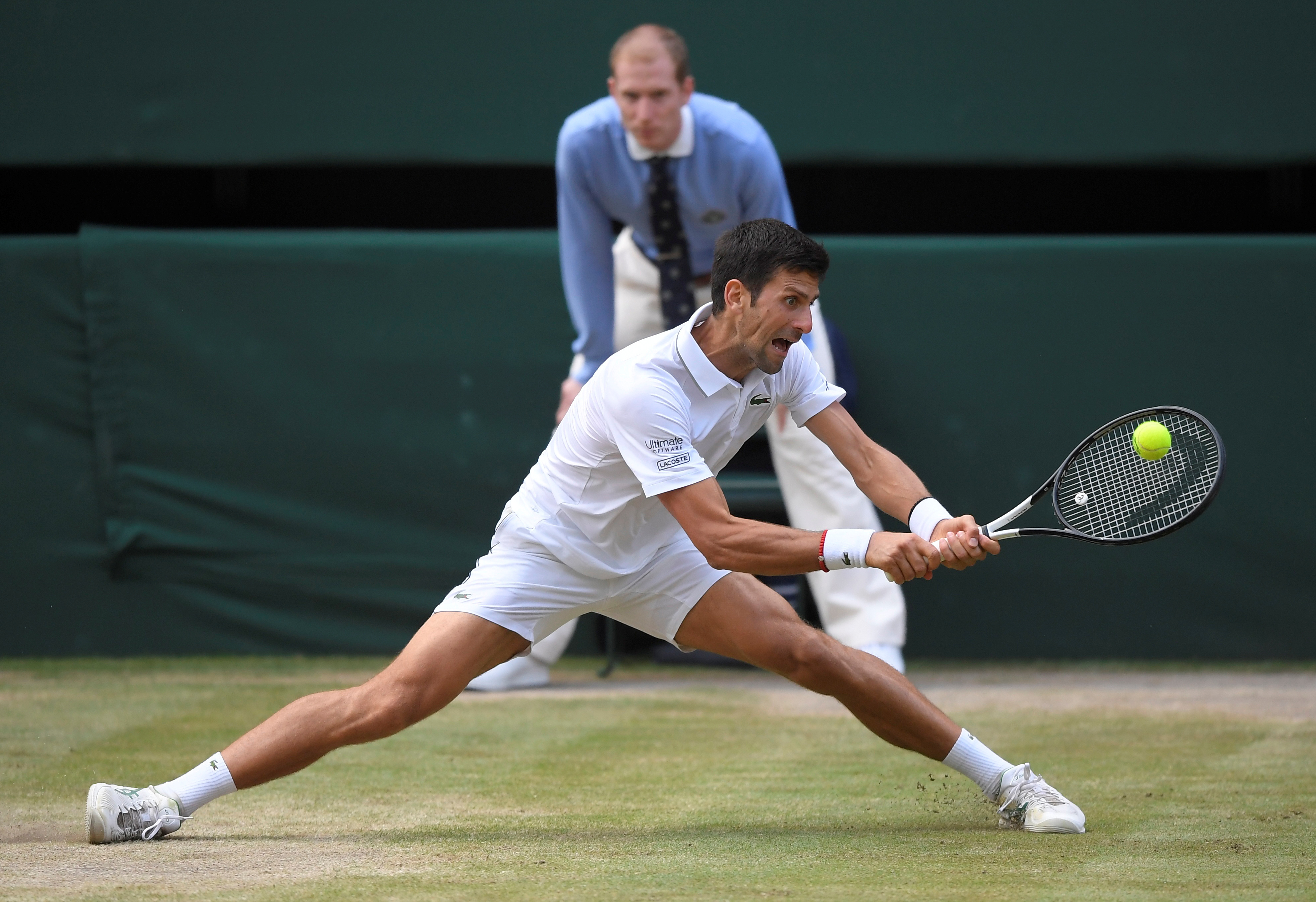 Serbia's Novak Djokovic in action during the final against Switzerland's Roger Federer. Photo: Reuters