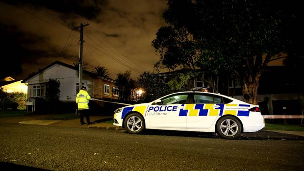 Police at the scene in Sturges Ave, Otahuhu. Photo: NZ Herald
