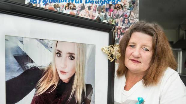Angela O'Connor with a portrait of her daughter Alexia who was killed when the drunk driver of...