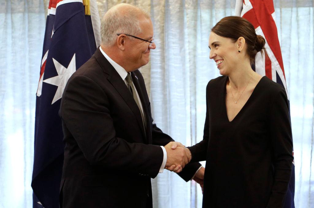 Jacinda Ardern with Australian Prime Minister Scott Morrison. Photo: Getty Images