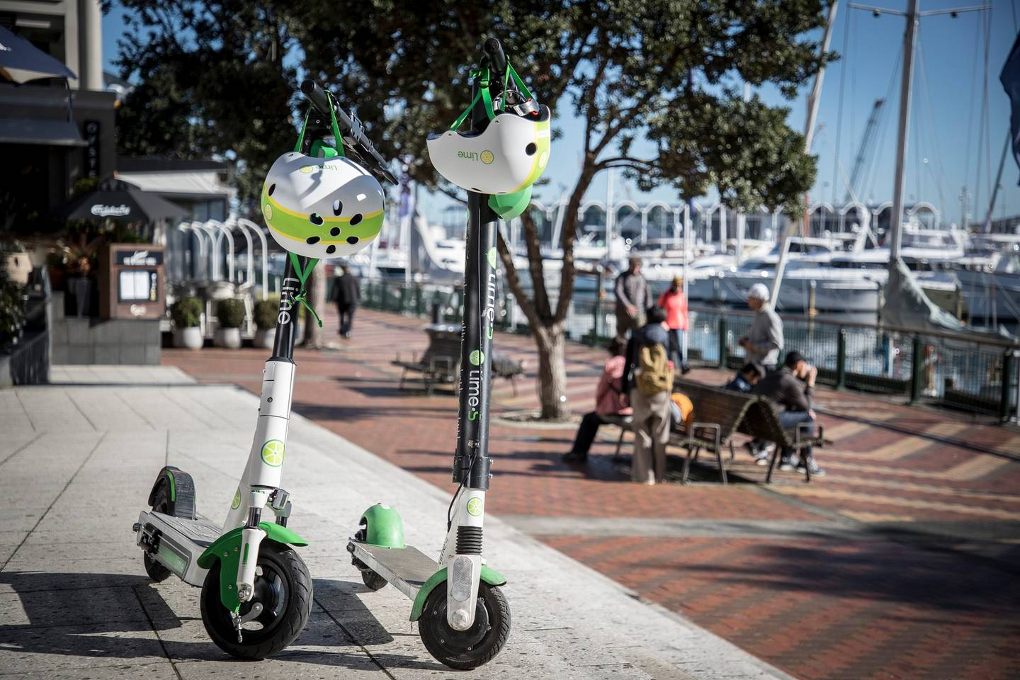 The new Lime G3 (left) next to the G2.5. Photo: NZ Herald