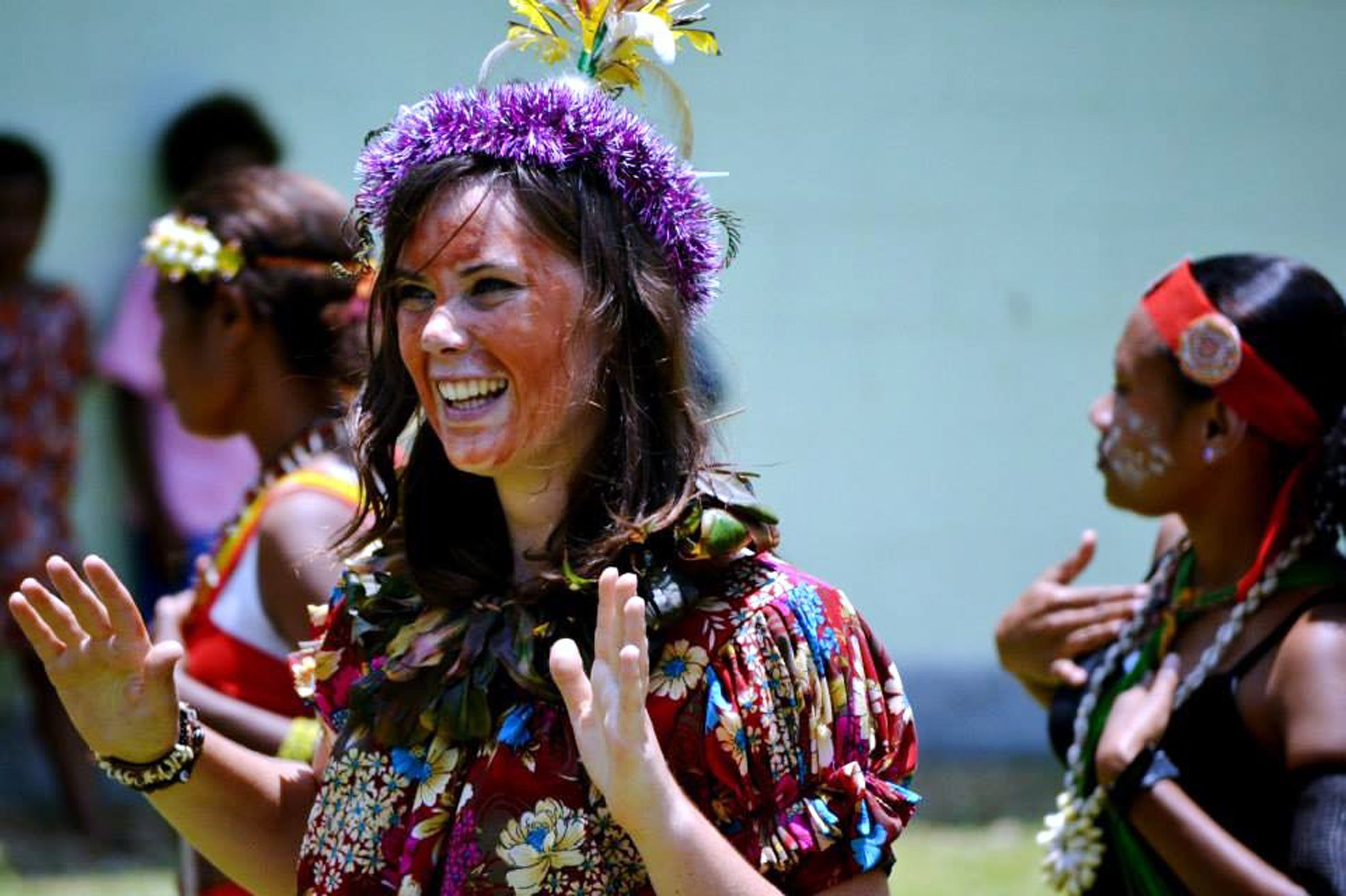 Rosie Paterson-Lima, 2009 Class Act recipient from Kaikorai Valley College, takes part in a dance...