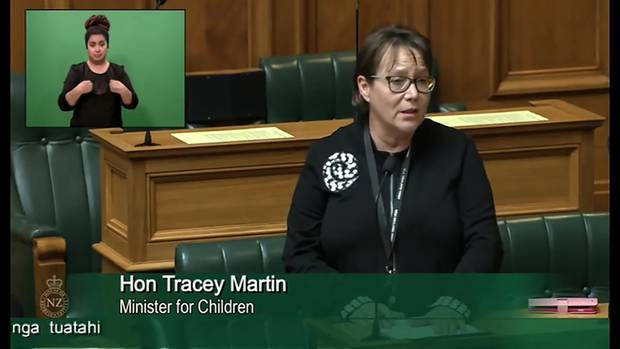 NZ First MP Tracey Martin had hoped to tell the story in Parliament this week. Photo: Parliament TV