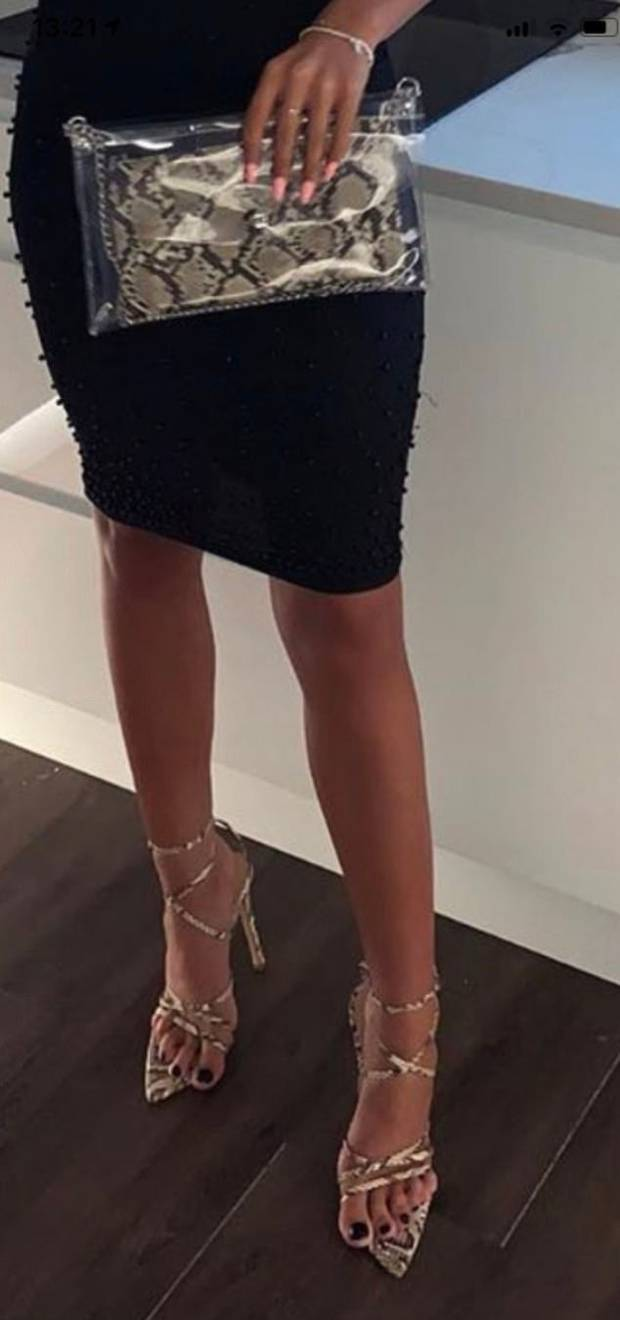 Ayleigh McGhee's fashion faux pas was shared online by her friend. Photo: Twitter