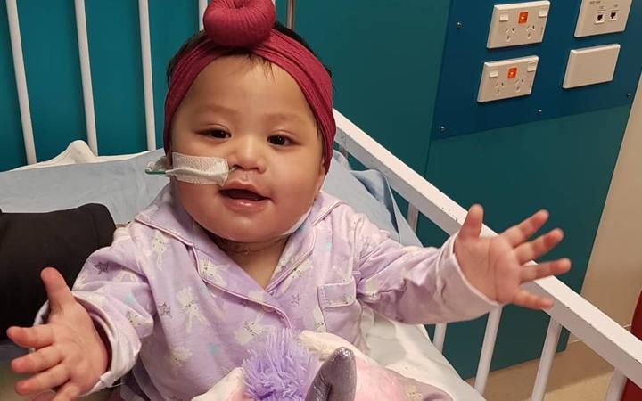 Lakyn-Ray Auloa has recovered after a four-week ordeal with measles. Photo: Supplied to RNZ by...