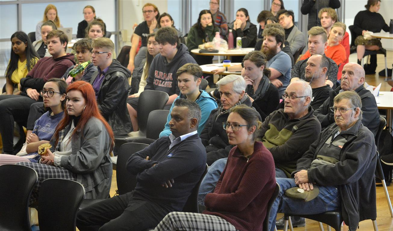 A crowd of about 130 turned out for the mayoral forum at the University of Otago today. Photo:...