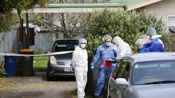 Investigators at the scene after the incident. Photo: NZ Herald