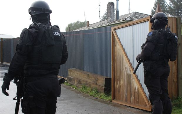 Two members of the Armed Offenders Squad. Photo: RNZ/File