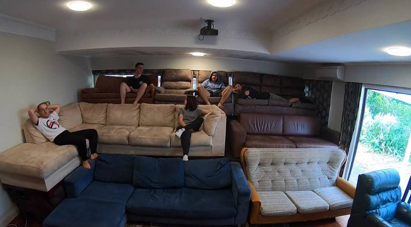 David O'Brien's home grandstand can seat 28 people comfortably. Photos via NZ Herald