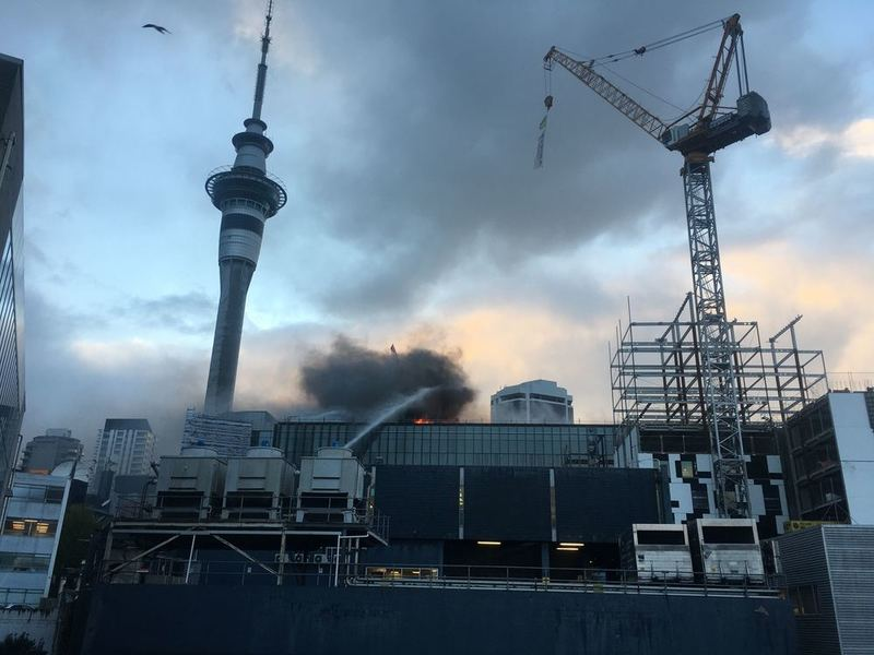 Dawn reveals the mammoth task facing firefighters. Photo: NZ Herald