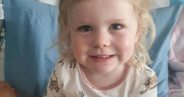 Two-year-old Paige Hennessy has a brain tumour. Photo / Givaelittle