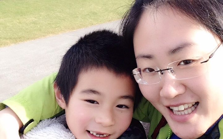 Zoe Jiang with her son Zac Photo: Supplied