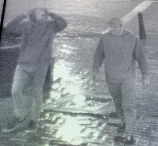 The men sought by police.