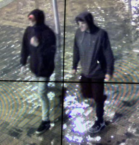 The men sought by police in relation to the assault.