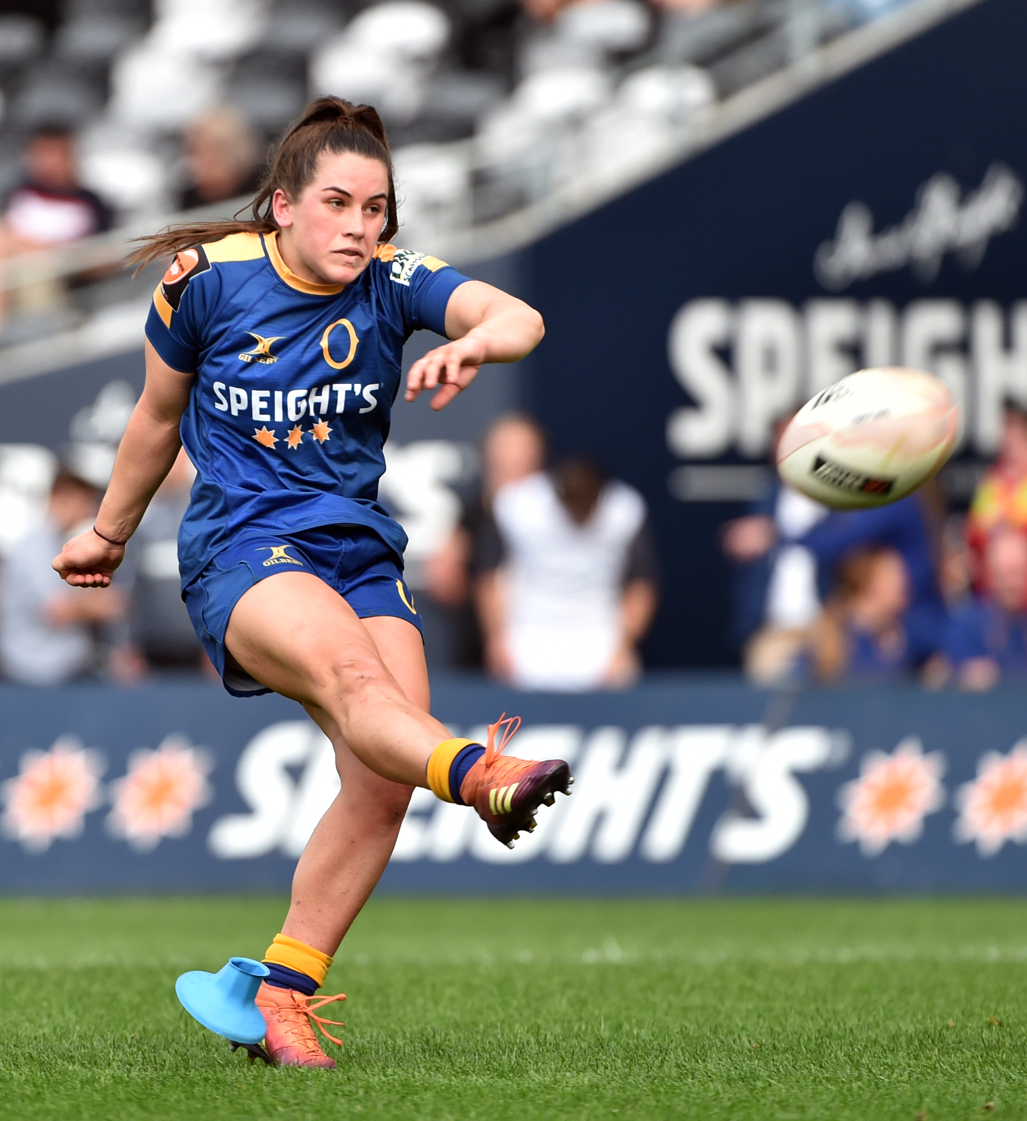 The kicking of Otago's Rosie Kelly made all the difference for the Spirit in today's final. Photo: Peter McIntosh