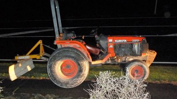 The stolen tractor had a top speed of 18km/h. Photo: NZ Herald