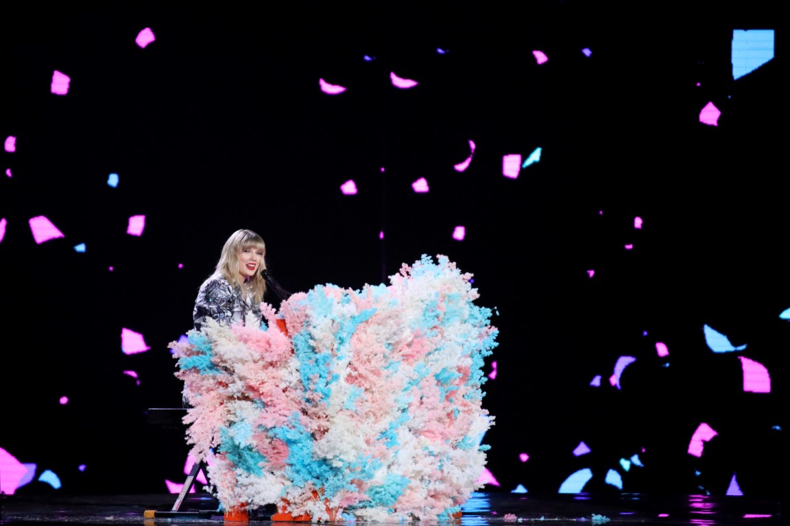 Taylor Swift performs at a show to mark Alibaba's Singles' Day global shopping festival in...
