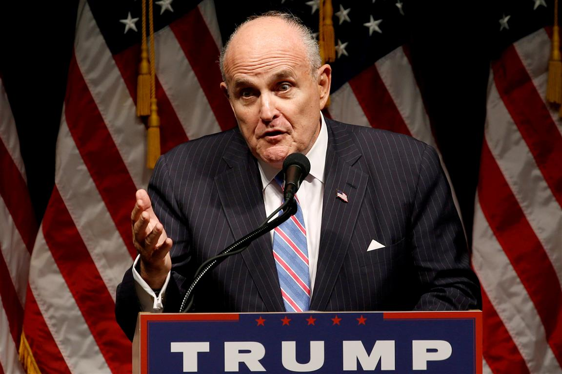 Donald Trump's personal lawyer Rudy Giuliani. Photo: Reuters