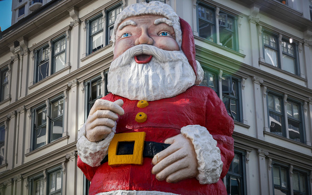 Auckland's Santa is in need of restoration work and is a challenge to move so his days are...