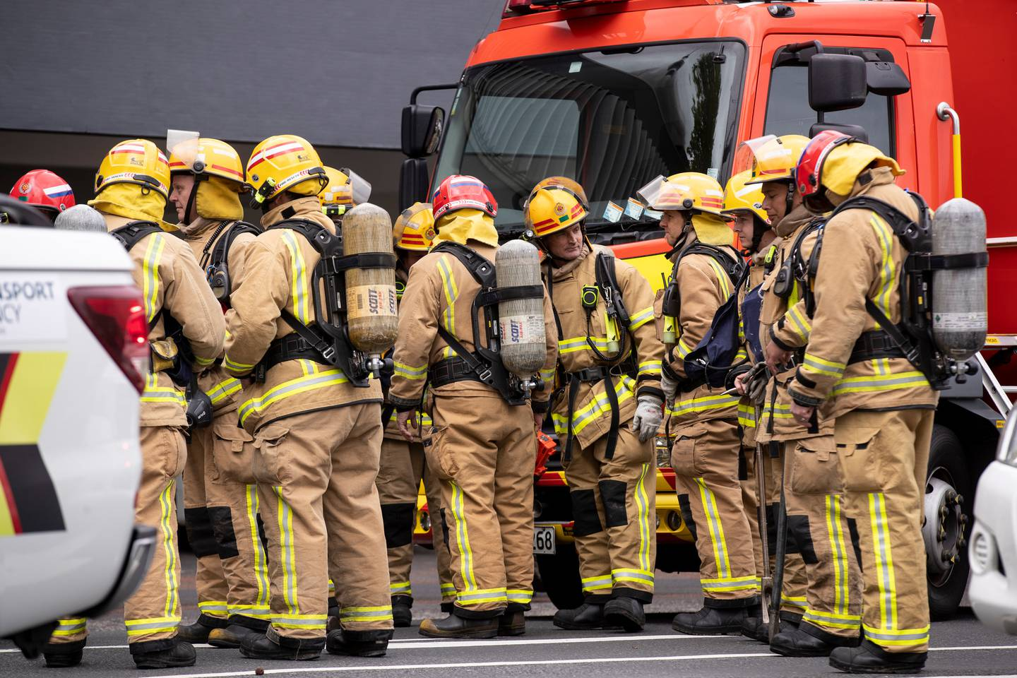 Firefighters say some had faulty equipment including not enough breathing apparatus and broken...