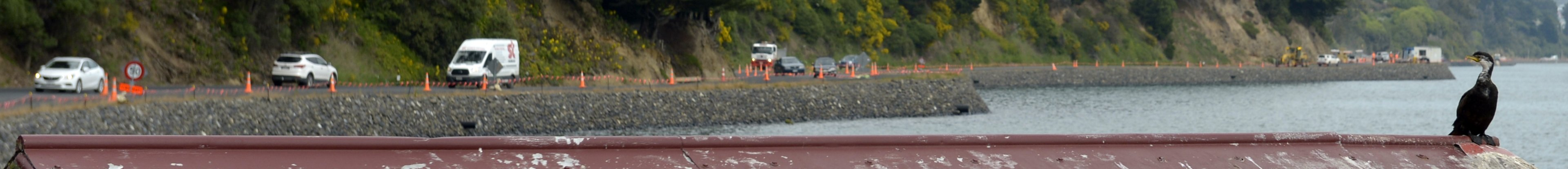 A completed section of the new Otago Harbour rock wall to the west of Glenfalloch. PHOTOS: GERARD...
