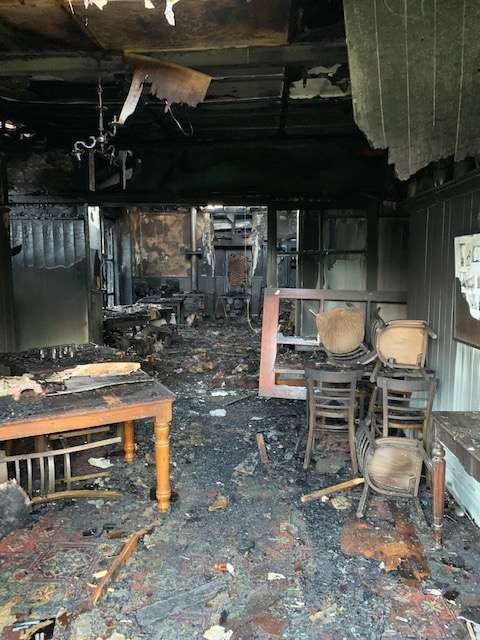 The fire gutted the inside of part of the building. Photo: Supplied