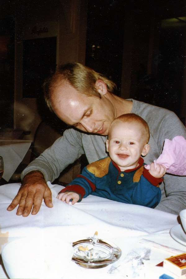 David with son Ben as a baby. Photo: Supplied