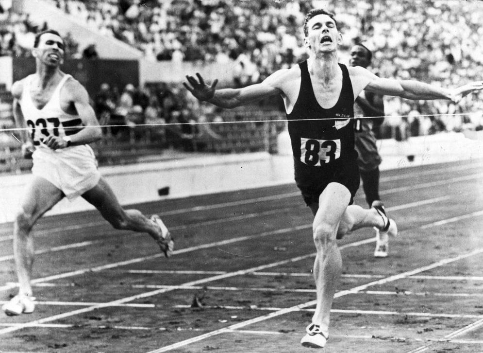 Peter Snell wins the 800m in Rome in 1960. Photo supplied.