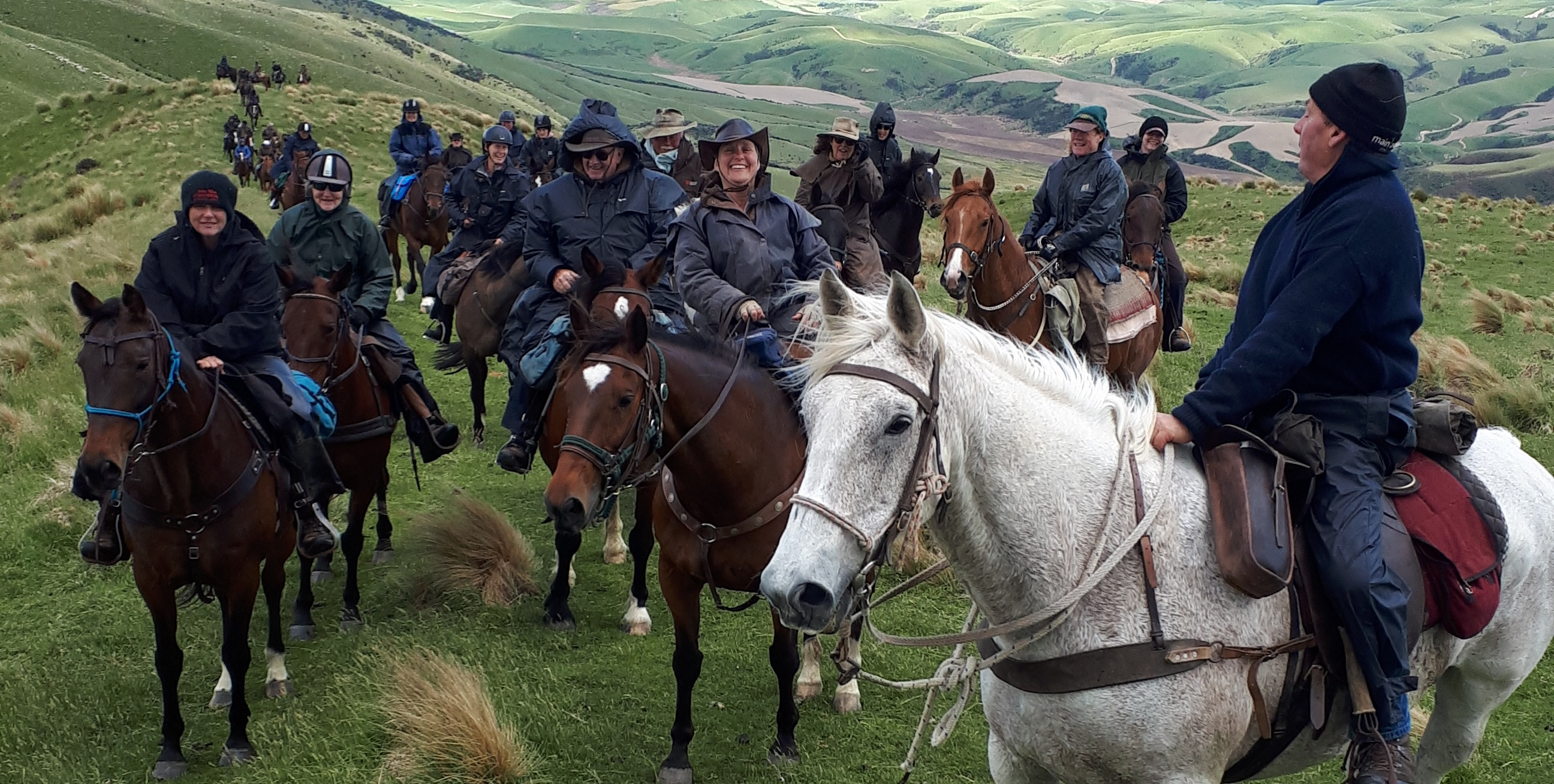 About 45 riders took part in the Greenvale Dog Trial Club's fundraising horse trek from Waikaia to Greenvale last weekend. Photo: Supplied