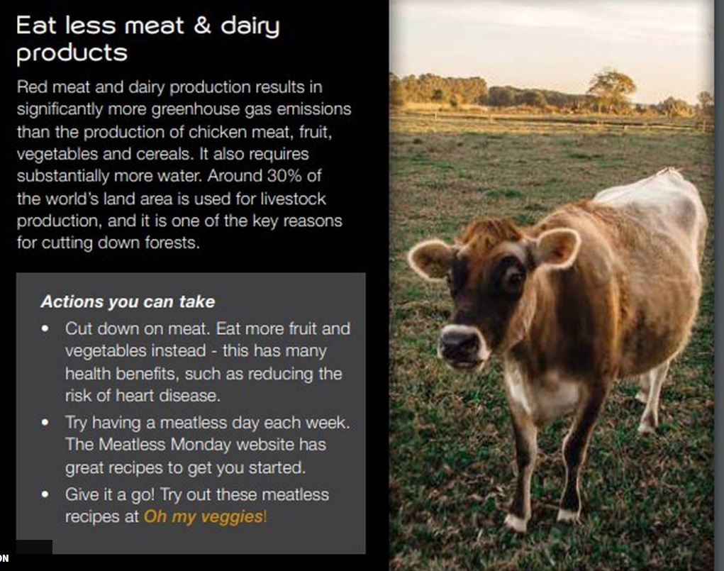 This portion of a new Ministry of Education climate-change resource has raised the ire of Beef +...