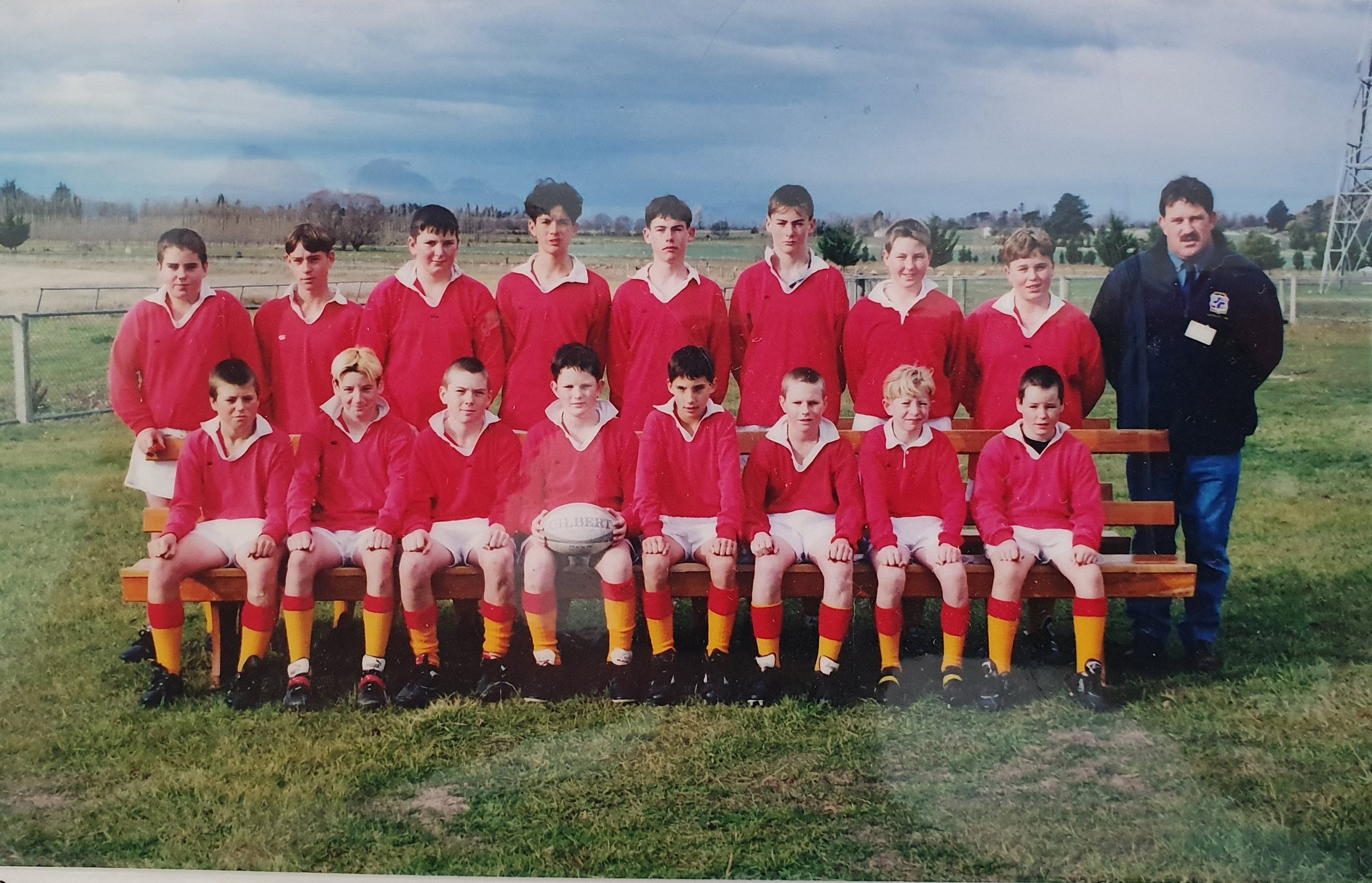 Mr Deed (back row, fourth from left) was part of an invincible Kurow junior rugby team in 1998, winning all 15 games in the season. Photos: Supplied