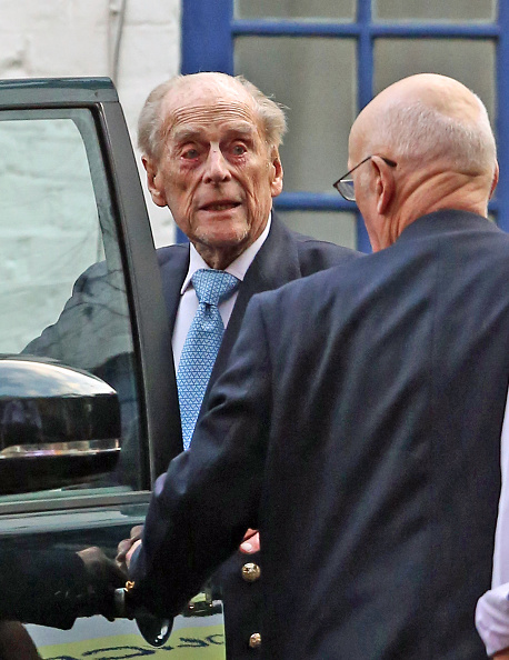 The Duke of Edinburgh leaves King Edward VII Hospital in London last month, Photo: Getty Images